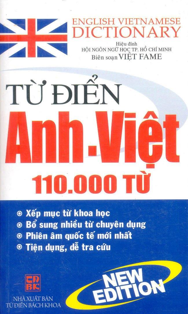 Từ Điển Anh - Việt 110000 Từ