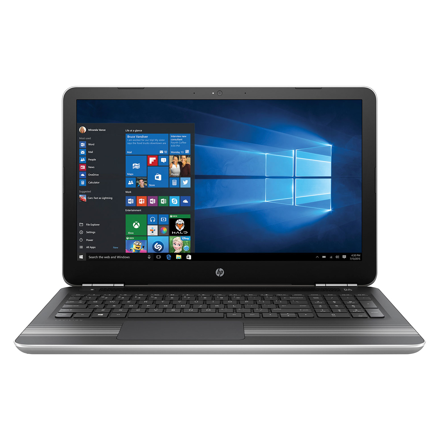 Laptop HP Pavilion15 - AU071TX X3C20PA Core i7-6500U/Win 10