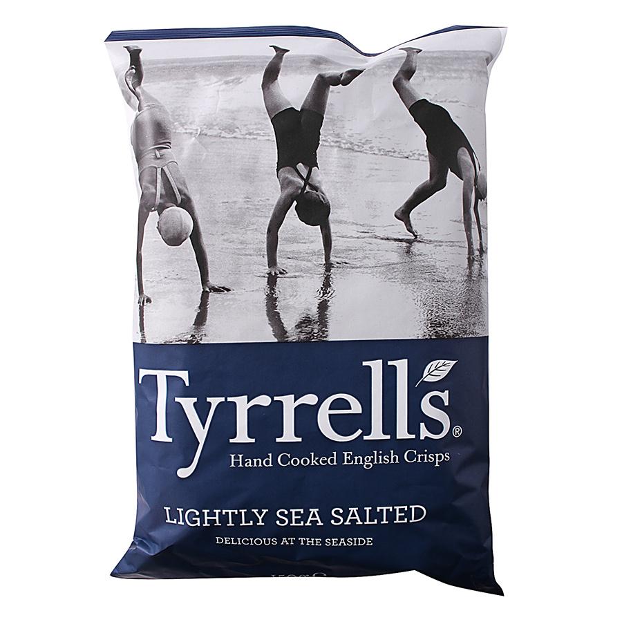 Khoai Tây Chiên Tyrrells Lightly Sea Salted Hand Cooked Crips (40g)