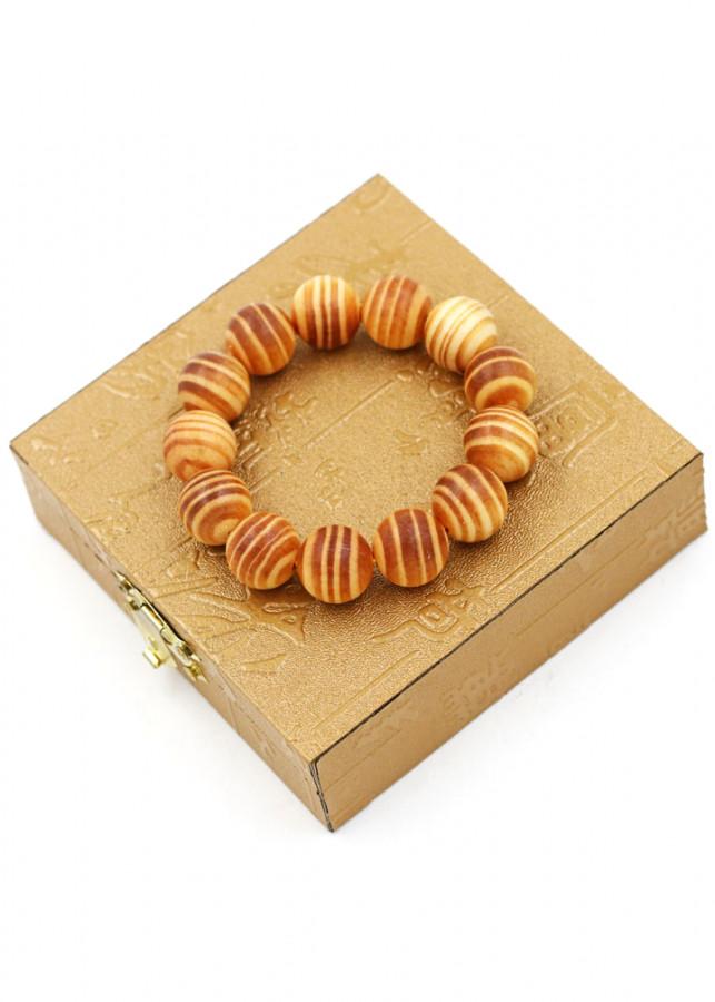 Vòng tay chuỗi hạt gỗ Huyết rồng 15 ly 13 hạt kèm hộp gỗ