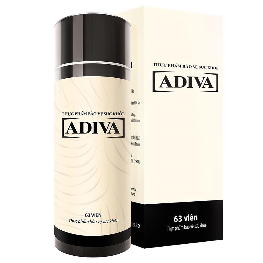 Thực Phẩm Chức Năng Collagen ADIVA Dạng Viên (Lọ 63 Viên)