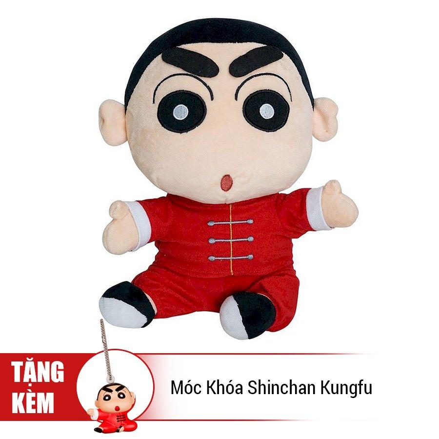 Thú Bông Shinchan - Cậu Bé Kungfu (Tặng Kèm Móc Khóa Shinchan Kungfu)