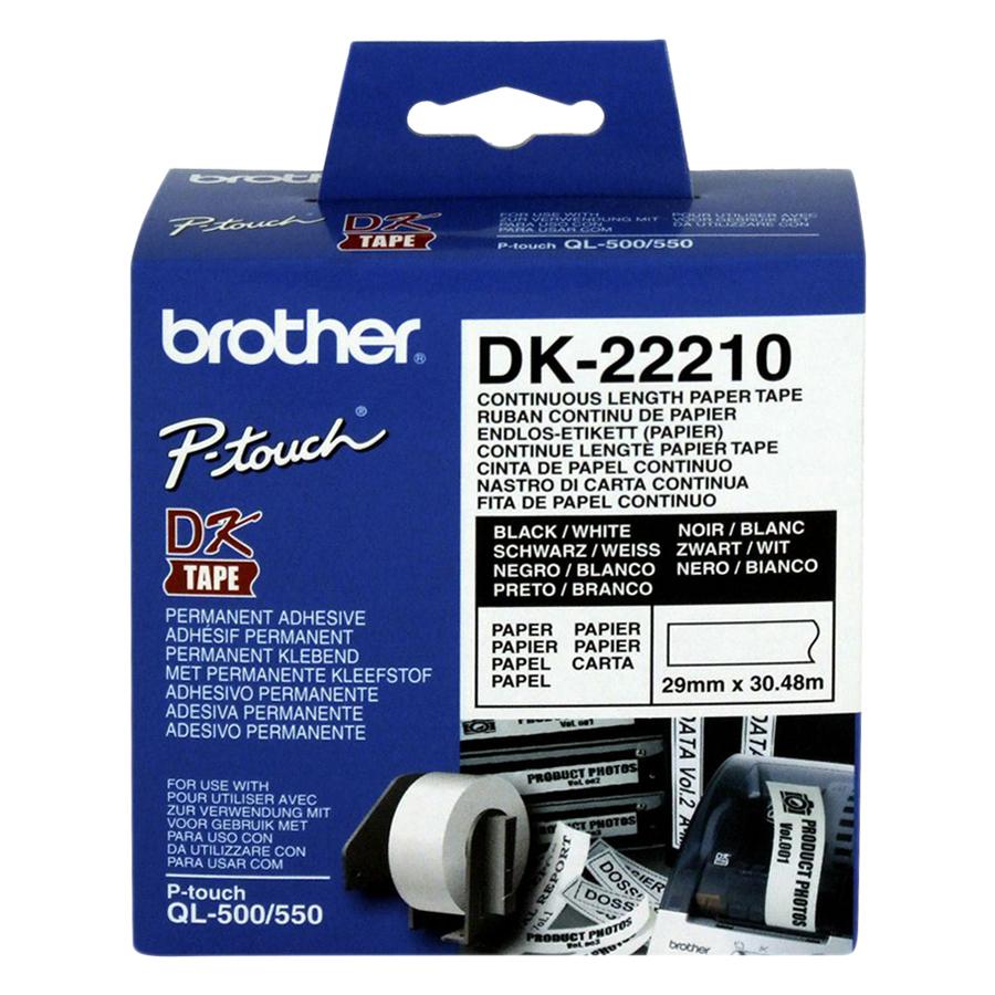 Giấy In Nhãn Liên Tục Brother DK-22210 (29mm x 30m)