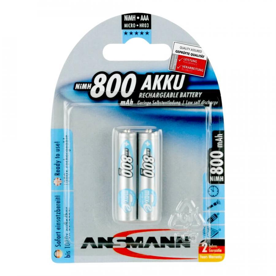 Bộ 2 Pin Sạc AAA-800 ANSMANN
