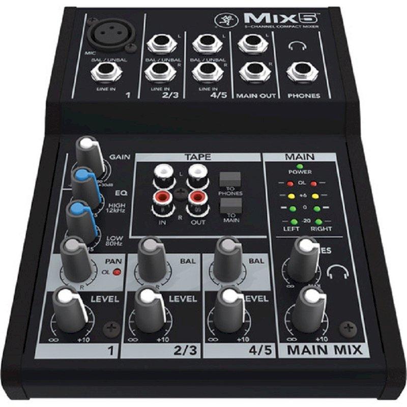 Máy trộn tiếng Mixer Mackie Mix 5