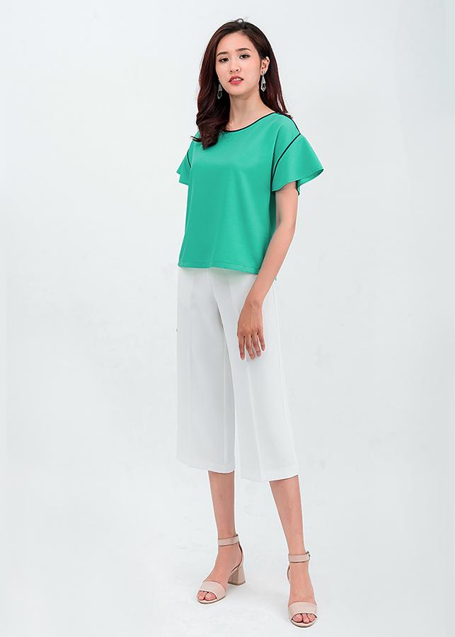 Set áo sơ mi lửng quần lửng Culottes 50104-18001