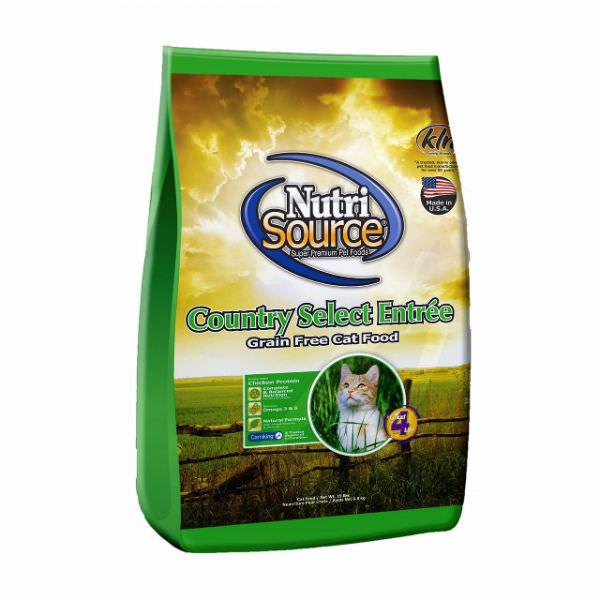 Thức Ăn Cho Mèo Không Ngũ Cốc Country Select Entree Nutri Source - Xanh Lá (3kg)