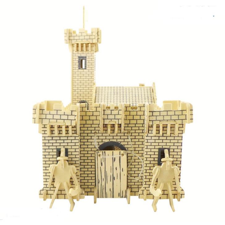 Bộ xếp hình 3D bằng gỗ Lâu đài chiến binh - THE KNIGHT CASTLE ALCC