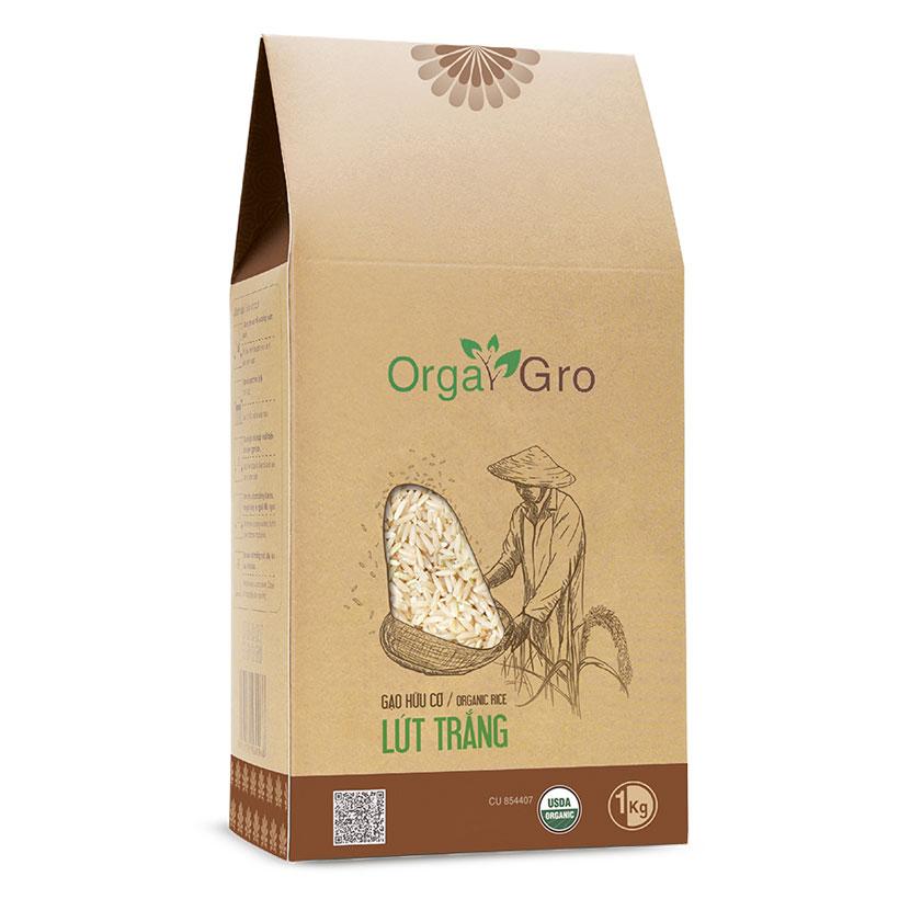 Gạo hữu cơ Lứt trắng OrgaGro
