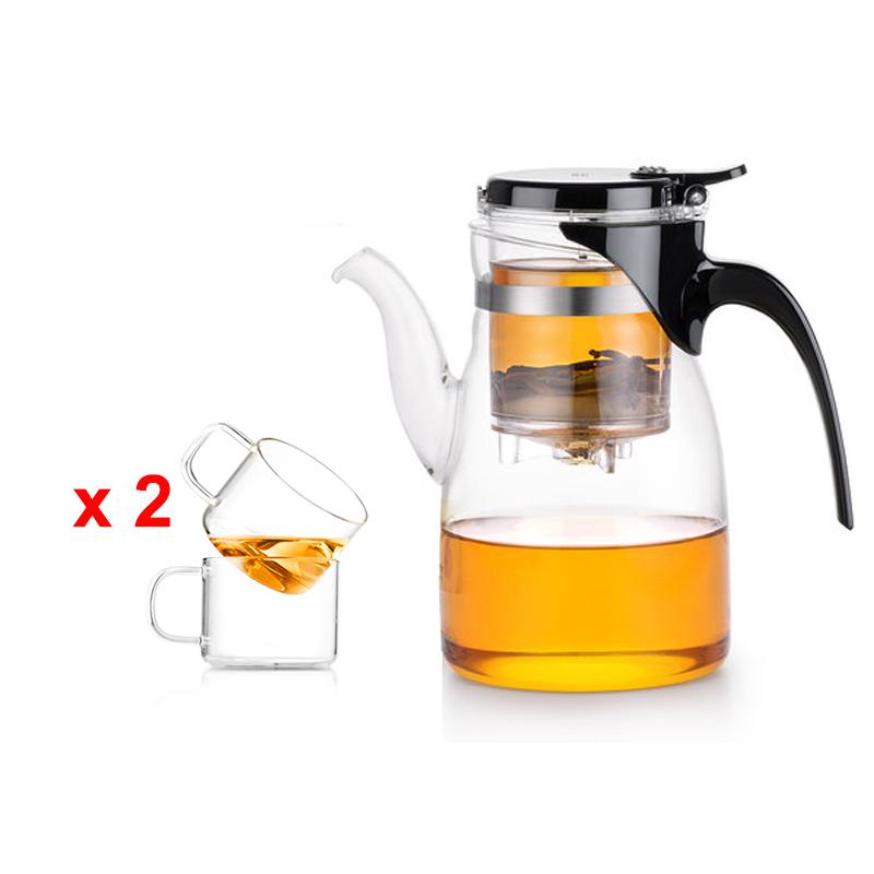 Bộ bình lọc trà thủy tinh Samadoyo NA010 900ml