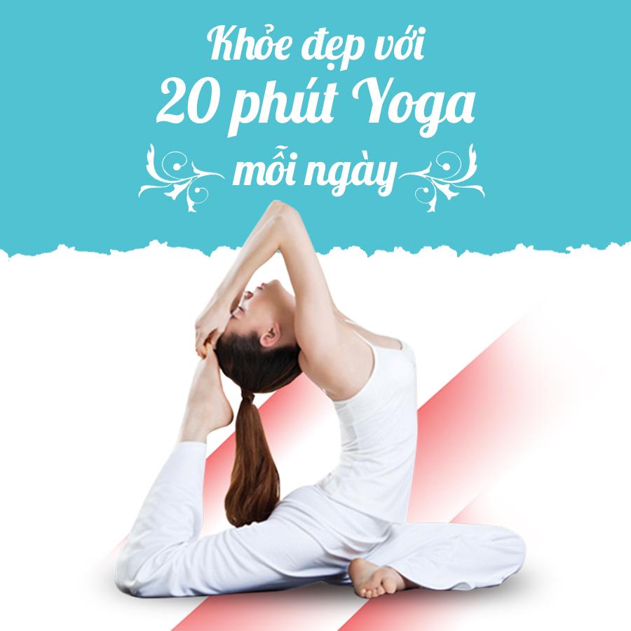 Bộ 2 Khóa Học Khỏe Đẹp Với 20 Phút Yoga Mỗi Ngày KYNA NT01