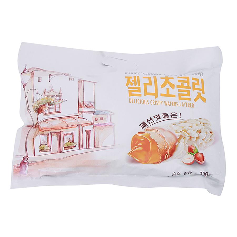 Bánh Cuộn Chocolate Hạt Dẻ Hàn Quốc (300g) - Hàng Nhập Khẩu