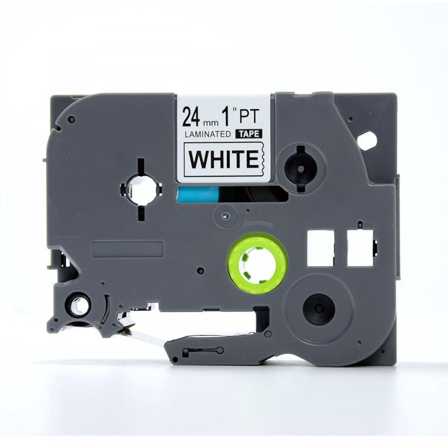 Nhãn in TZ2-251 chữ đen trên nên trắng (Black on white)_24mm dùng cho máy in nhãn