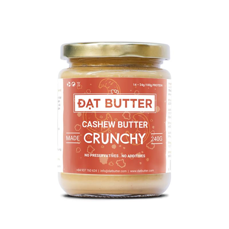 Bơ Hạt Điều Có Hạt Tự Nhiên Đạt Butter (240g)