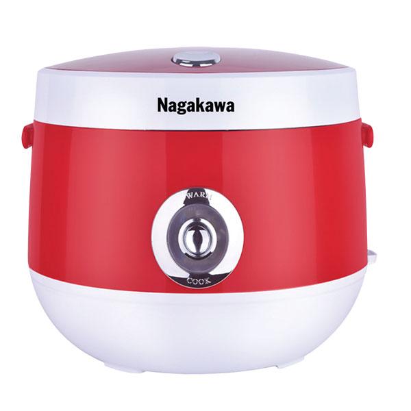 Nồi cơm điện Nagakawa NAG0101 trắng đỏ (1.8 Lít)