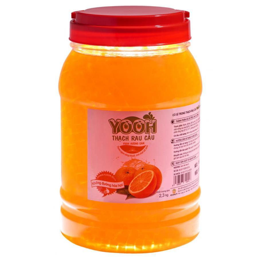 Thạch rau câu trà sữa YOOH - Vị Cam 2.3 kg
