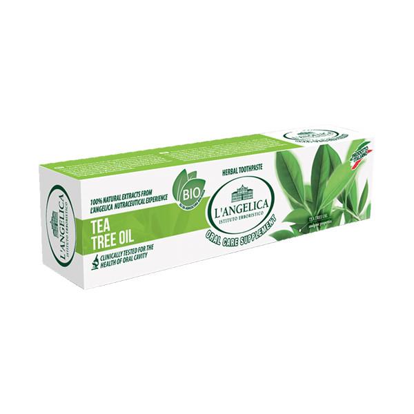 Kem Đánh Răng L'Angelica Toothpaste - Tea Tree Oil - Tinh chất trà xanh