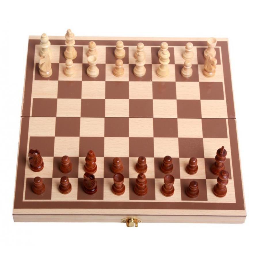 Bộ cờ vua Chuan Kun bằng gỗ có hộp đựng kiêm bàn cờ đi kèm