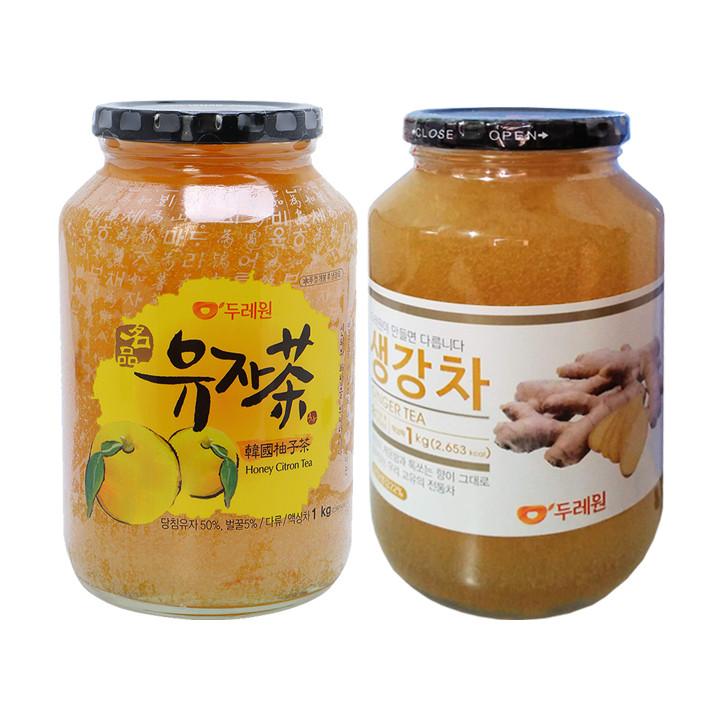 Combo Trà Chanh mật ong và Trà Gừng mật ong Hàn Quốc