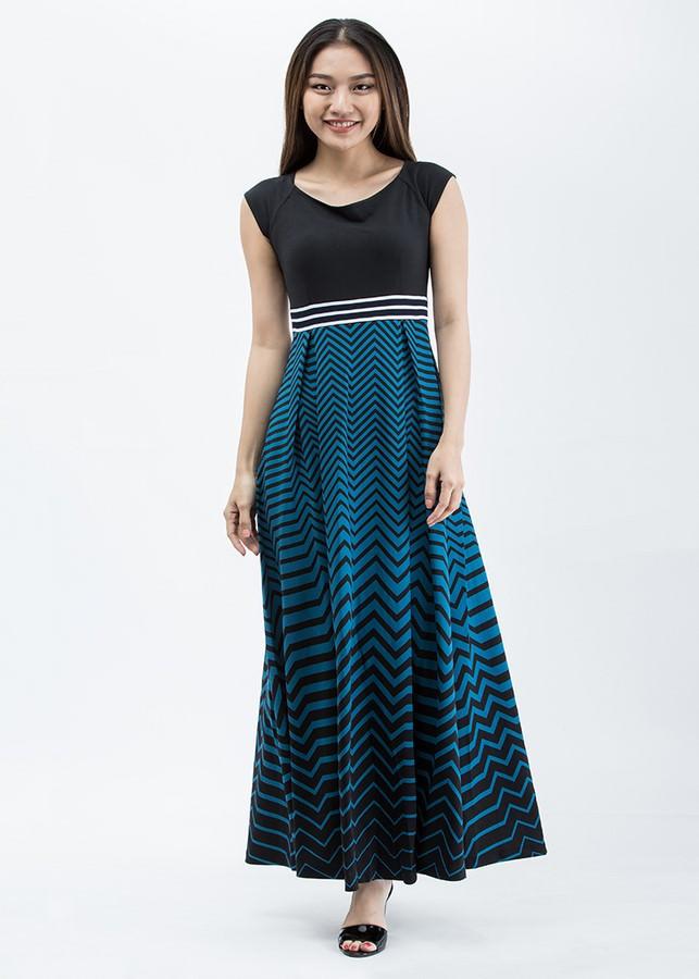 Đầm Nữ Maxi Thun Citino DAM17021009-01 - Họa Tiết (Freesize)