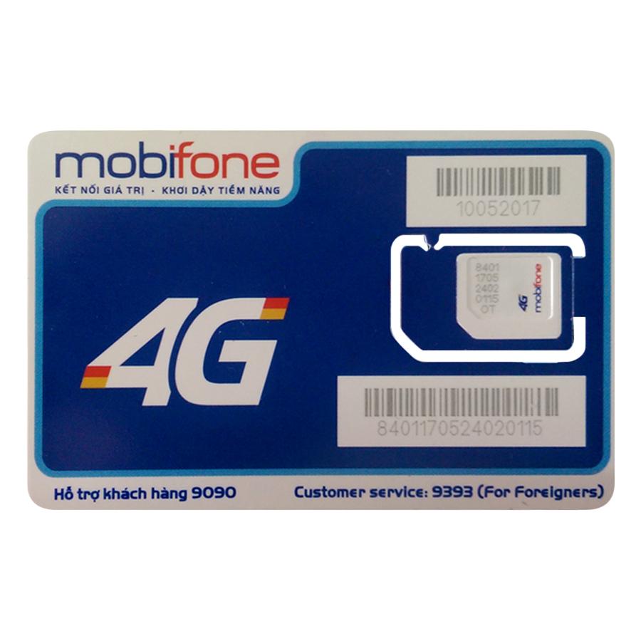 Sim 4G Mobifone C90N tặng 4GB/Ngày