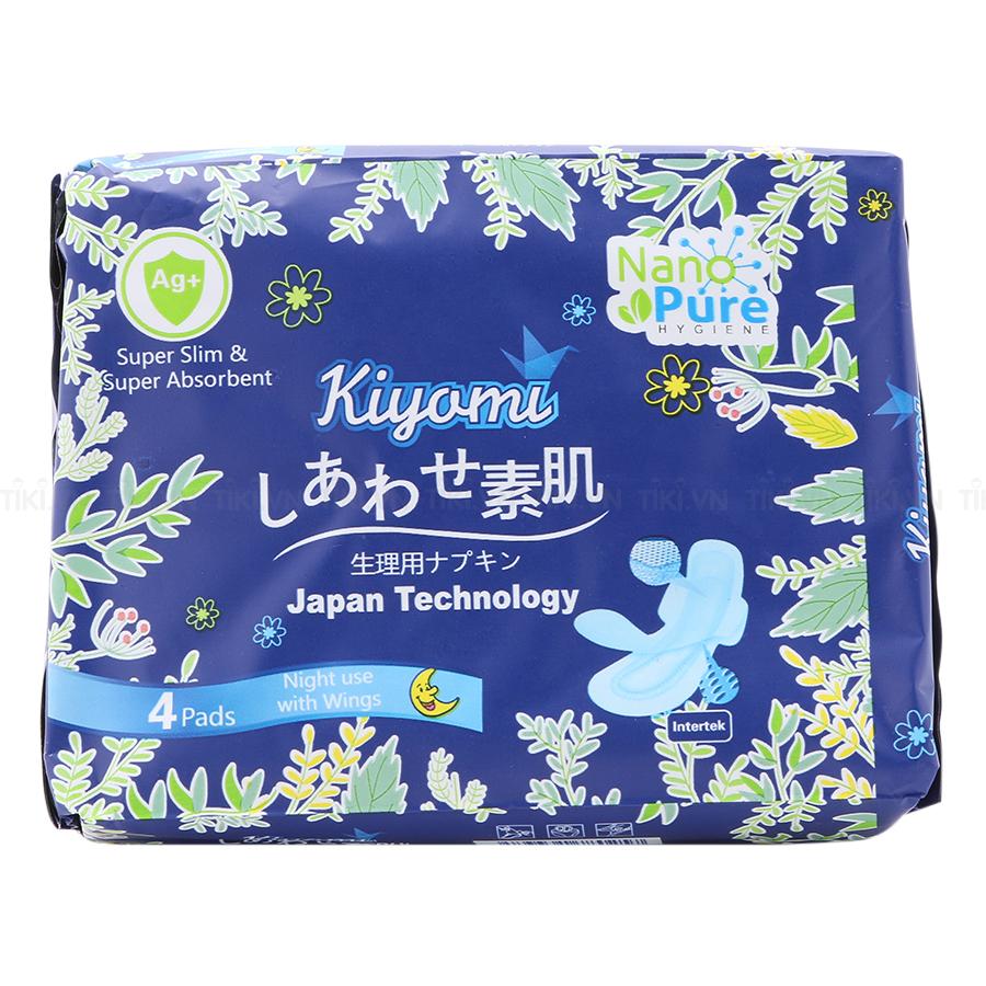 Mua Băng Vệ Sinh Ban Đêm Nhật Bản Kiyomi (Gói 4 Miếng)