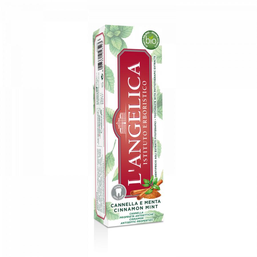 Kem Đánh Răng L'Angelica Toothpaste - Mint and Cinnamon - Bạc Hà và Quế