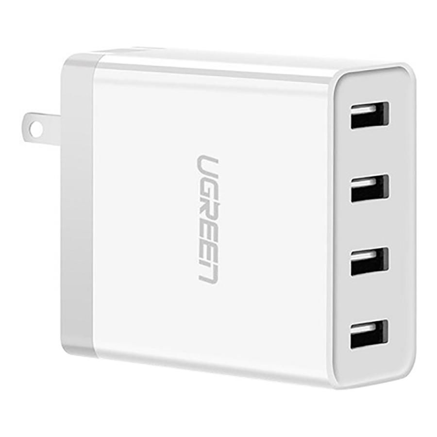 Adapter Sạc Di Động 4 Cổng USB (34W 6.8A) Ugreen UG-30991 Cho Điện Thoại iPhone 6S.7 iPad. Gal - Hàng Chính Hãng