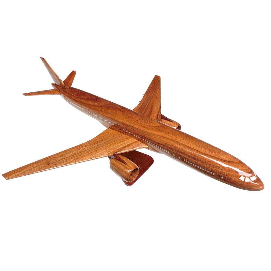 Mô hình máy bay gỗ Boeing B777 - Size Nhỏ