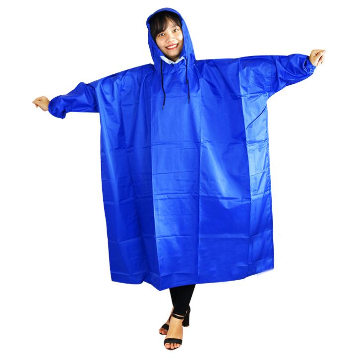 Áo mưa bít không xẻ tà vải dù tổ ong size nữ