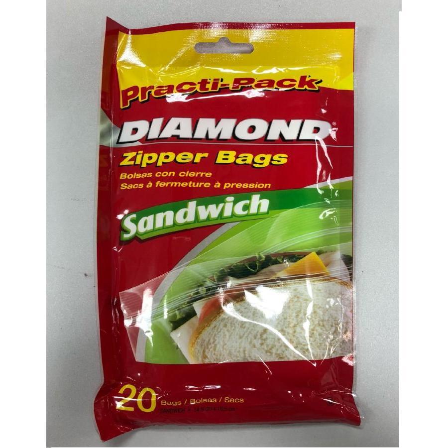 Túi đựng thực phẩm Diamond size sandwich - dạng gói