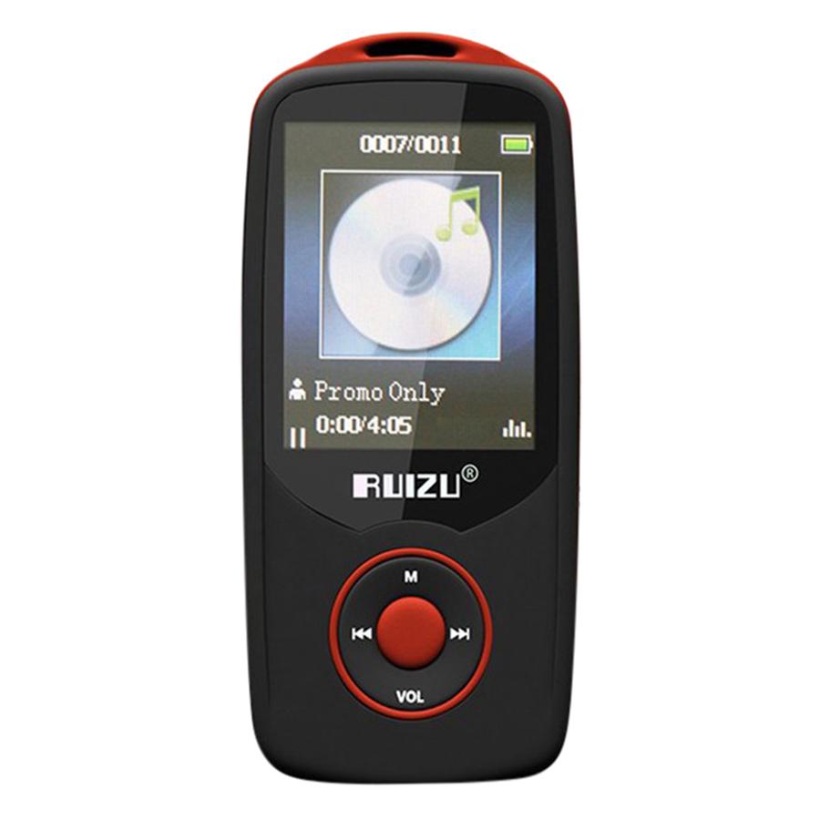 Máy Nghe Nhạc Lossless Bluetooth Ruizu X06 (Đen Viền Đỏ) - Hàng Chính Hãng