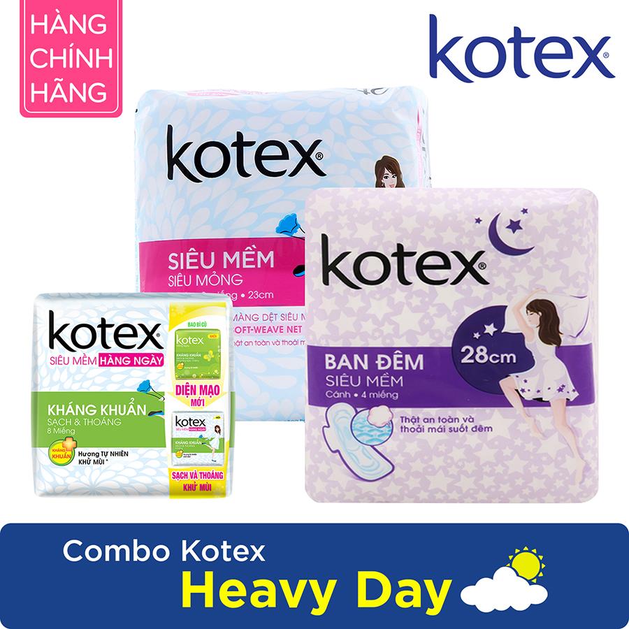 Combo Băng Vệ Sinh Kotex Heavy Day