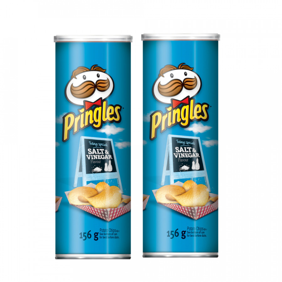 Combo 2  Khoai tây chiên Pringles  Salt  Vinegar 158g