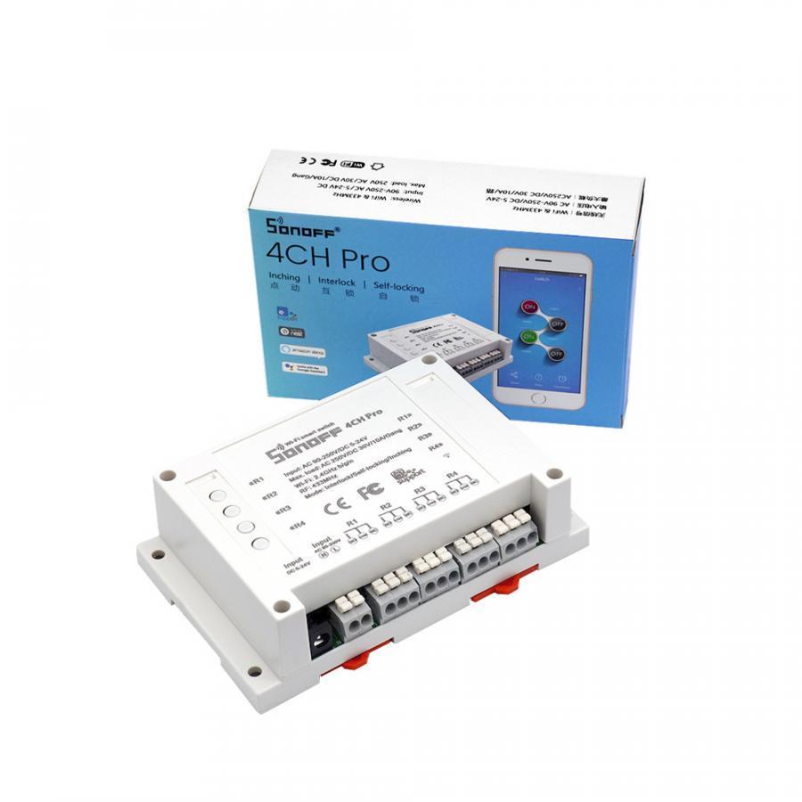 Sonoff 4CH Pro - Công tắc WiFi thông minh 4 cổng kết nối WiFi + RF