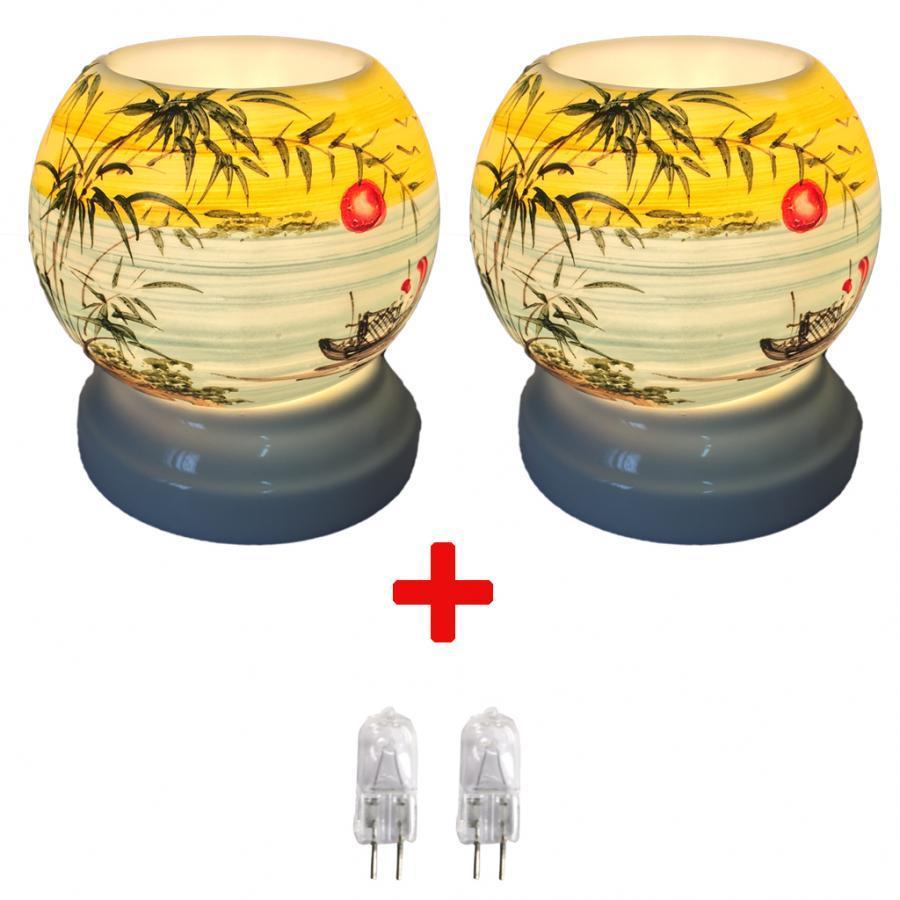 Combo 2 đèn xông tinh dầu MNB09 và 2 bóng đèn