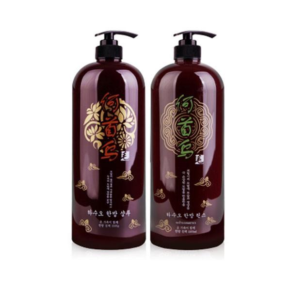 Combo dầu gội và dầu xả thảo dược siêu mượt Organia Hasuo Herbal 1500ml x 2