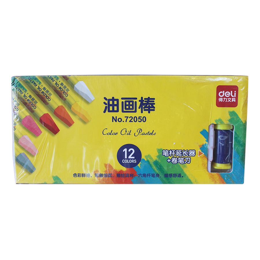 Bộ Bút Sáp Dầu Deli 12 Màu