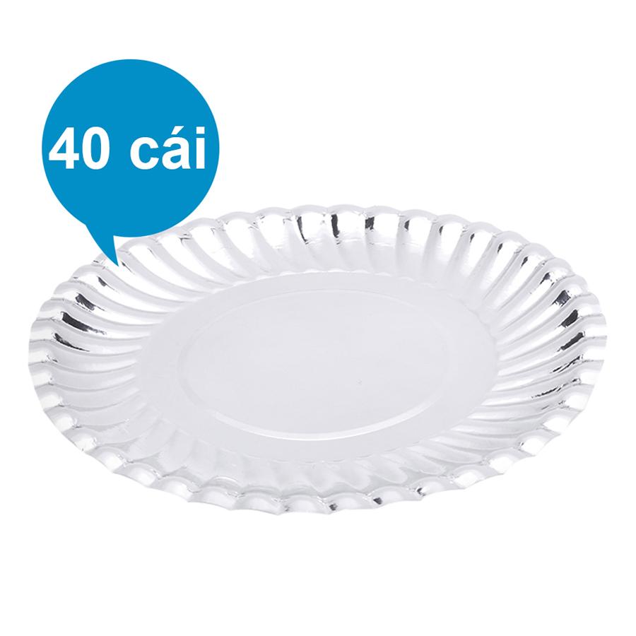 Lốc 40 Cái Dĩa Giấy MPET FnB DB13 (13cm / Dĩa)