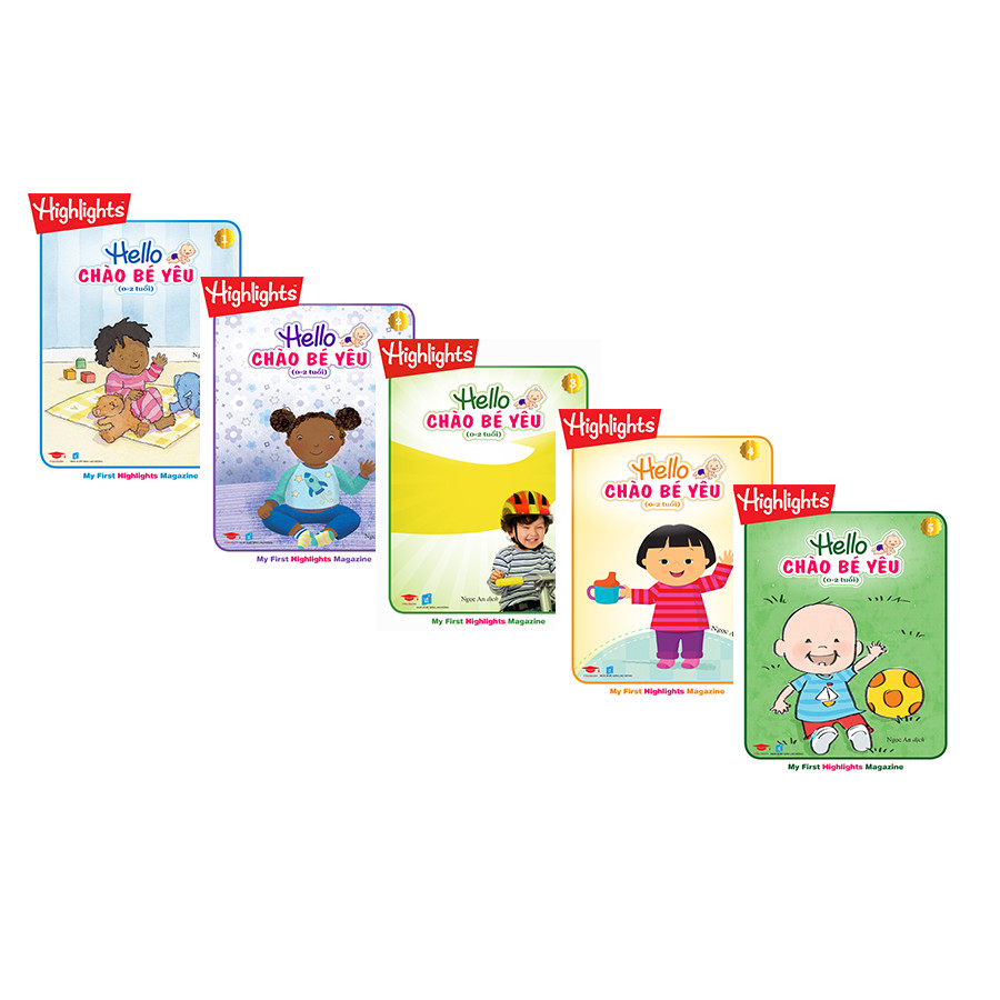 Combo 5 cuốn Hello - Chào bé yêu ( 0 - 2 tuổi)