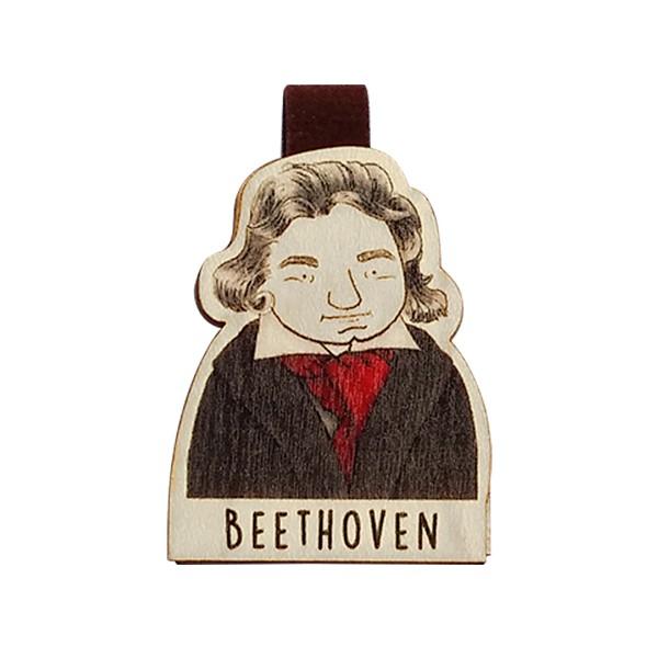 Bookmark gỗ nam châm Beethoven