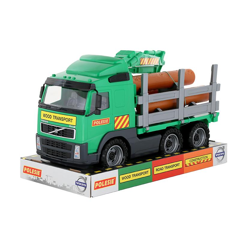 Xe đồ chơi trẻ em chỡ gỗ nhỏ Volvo PowerTruck – Polesie Toys