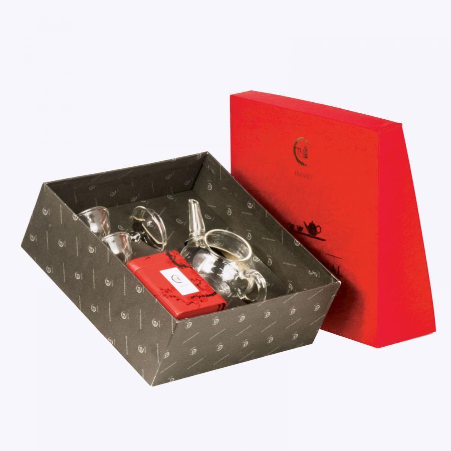 Hộp quà tặng trung thu thủy tinh - Bộ đối ẩm và Hồng Trà