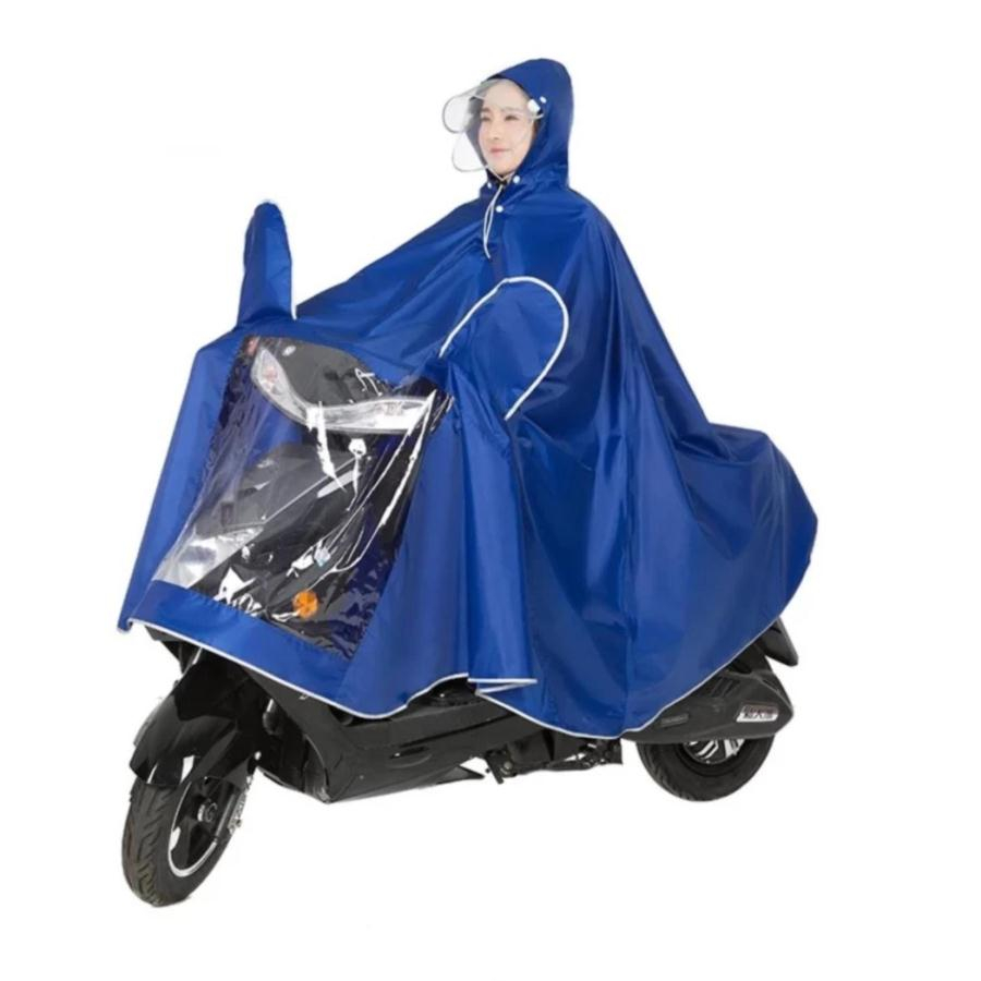 Áo mưa có kính che mặt an toàn - Giao màu ngẫu nhiên