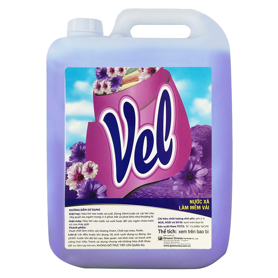 Nước Xả Quần Áo Vel Tím  Hương Lavender can 18L