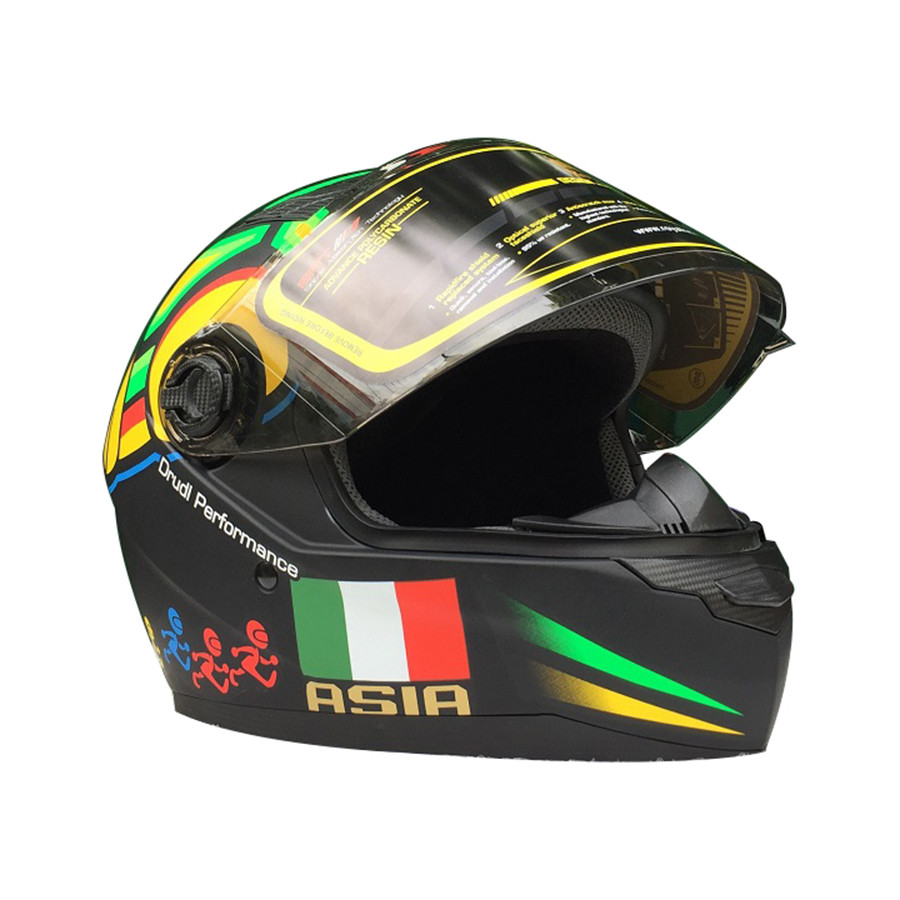 Mũ bảo hiểm Fullface Asia MT136 (Size L) - Tem rùa