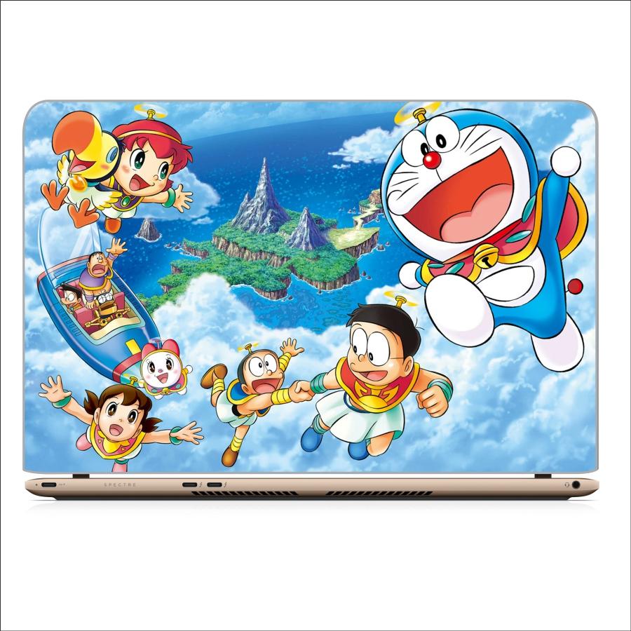 Skin decal in dành cho laptop - hình Doraemon và những người bạn