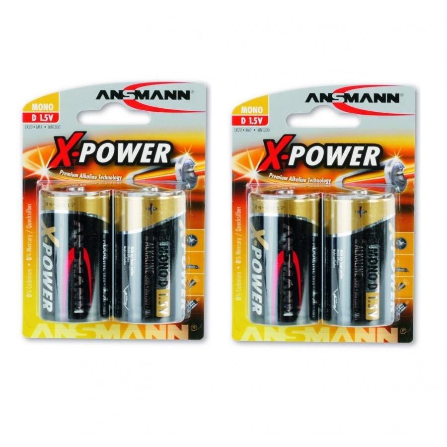 Bộ 2 vỉ pin Đại (Mono-D) X-Power ANSMANN ALKALINE