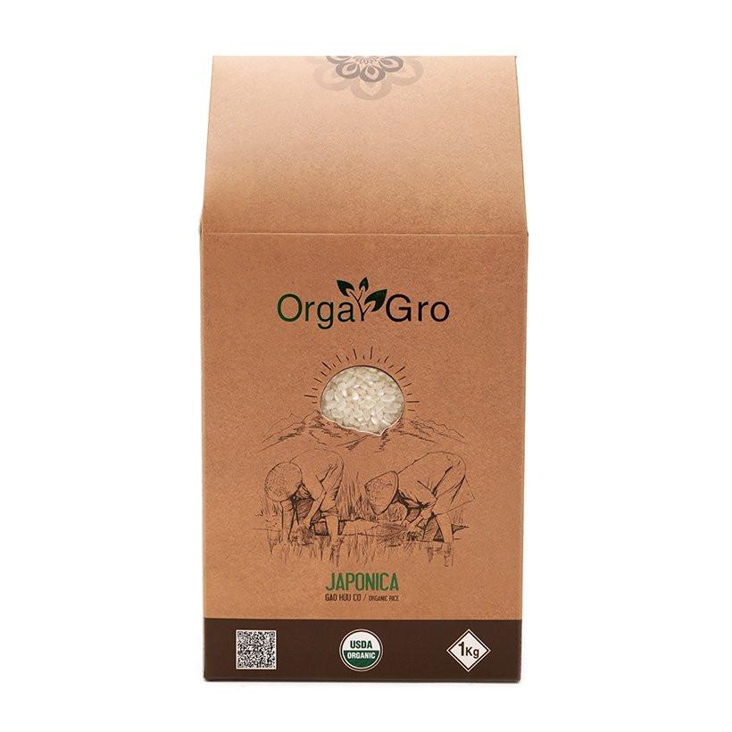 Gạo hữu cơ japonica Orgagro 3kg ( Organic)