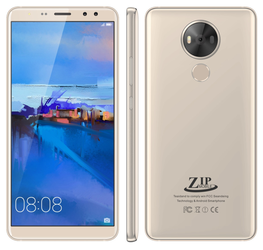 Điện Thoại ZIP Mobile ZIP17 RAM 1GB - Nguyên Khối Thiết Kế Tràn Viền - Hàng Chính Hãng - Bảo Hành 1 Năm